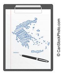 clipboard Greece map