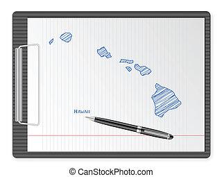 clipboard Hawaii map
