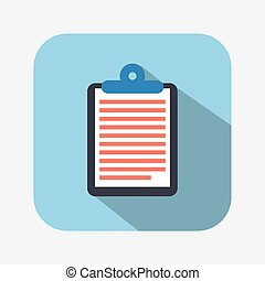 clipboard icon design, vector illustration eps10 graphic