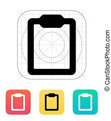Clipboard icon.