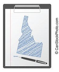 clipboard Idaho map