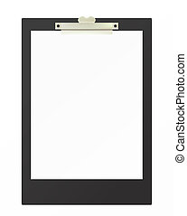 Clipboard - Illustration of the clipboard with blank page