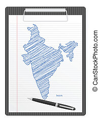 clipboard India map