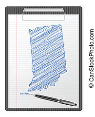 clipboard Indiana map