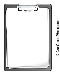 Clipboard. - Isolated Clipboard with blank paper for Copy...