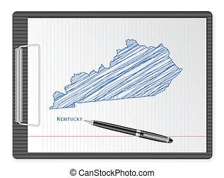 clipboard Kentucky map