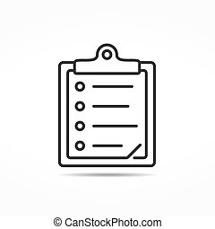 Minimal clipboard line icon, vector eps10 illustration