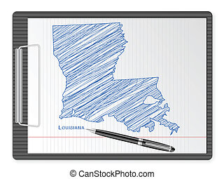 clipboard Louisiana map