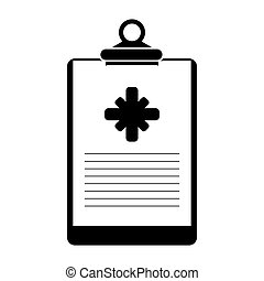 clipboard medical report clinic pictogram