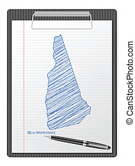 clipboard New Hampshire map