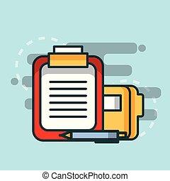 clipboard report folder file paper pen office
