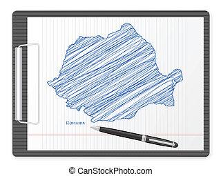 clipboard Romania map
