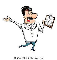 clipboard, rysunek, doktor