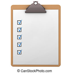 Clipboard - Illustration of clipboard on the white...