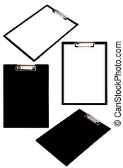 clipboard - Black clipboard set isolated on white background