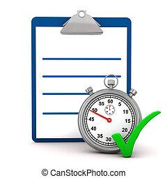 Clipboard Stopwatch Tick