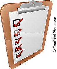 Clipboard survey illustration