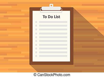 clipboard to do list paper