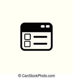 Clipboard vector icon. Illustration isolated for graphic and web design.