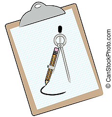 graph paper compass and pencil