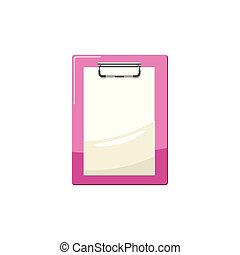 Clipboard with a blank sheet of paper icon