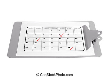 Clipboard with Calendar Page