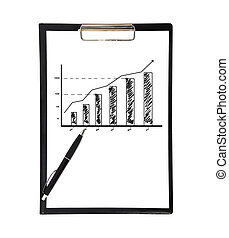 clipboard with chart