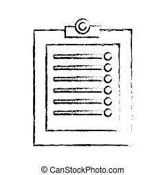 clipboard with checklist icon image sketch line