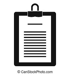 Clipboard with checklist icon, simple style