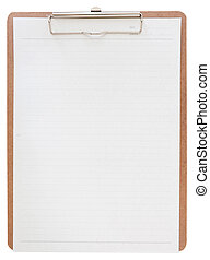 clipboard with paper