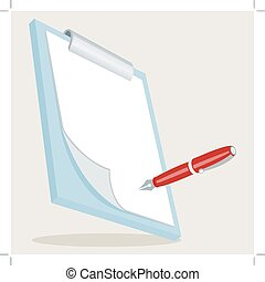 Clipboard with Pen