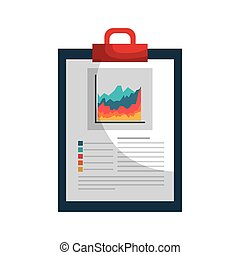 clipboard with statistics isolated icon