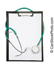 Clipboard with stetoscope