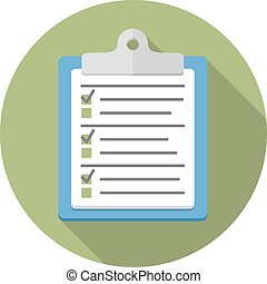 Clipboard with Survey
