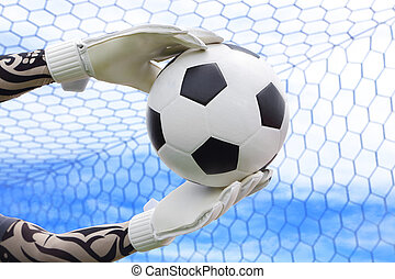 Cliping path include. Goalkeeper (termed goaltender,...