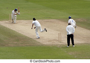 Clipped away - Batsman clips one down the leg side at first...
