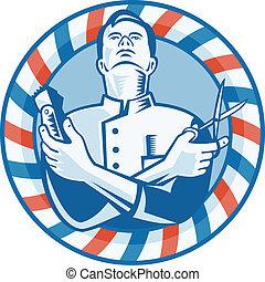 clipper, capelli, tagliatore, barbiere, forbici