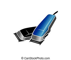clippers for barber illustration vector