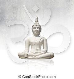 (clipping, path), buddha, aislado