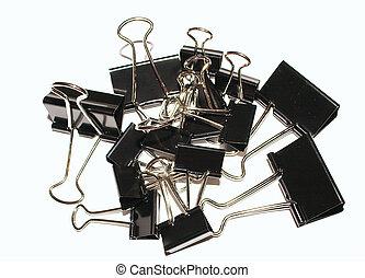 clips, carpeta, pila