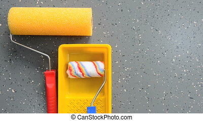 clips with building industry instruments over cement ...
