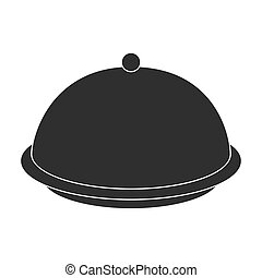 Cloche icon in black style isolated on white background. Hotel symbol stock vector illustration.