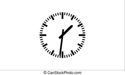 Clock-103-30 - Motion background with spinning clock in 12...