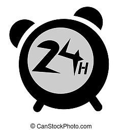 Clock 24 hours - Design of 24 hours message