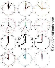 Clock-92 - A set of different mechanical clocks with an...