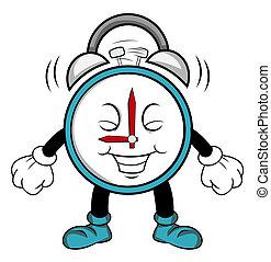 Clock alarm cartoon