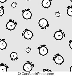 clock alarm icon vector illustration seamless pattern backgroumd