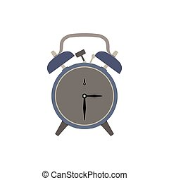 Clock alarm icon vector time illustration wake background isolated timer sign design symbol