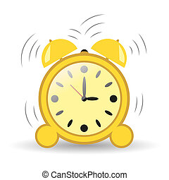 Clock, alarm three hours. Vector element isolated on a transparent background. Illustration for your design.