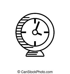 clock alarm watch outline